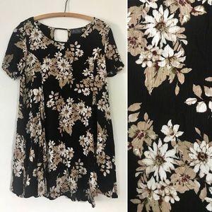 Astr black floral dress